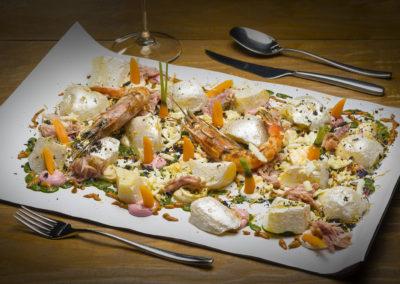 WT_CARLOSMARQUES_Ensaladilla rusa diferente con gambón rojo, ventresca de atún y polvo de cítricos 3